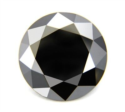 234.25 ct 39.50 mm Fancy Black  AAA Round Brilliant Cut Genuine Loose Moissanite