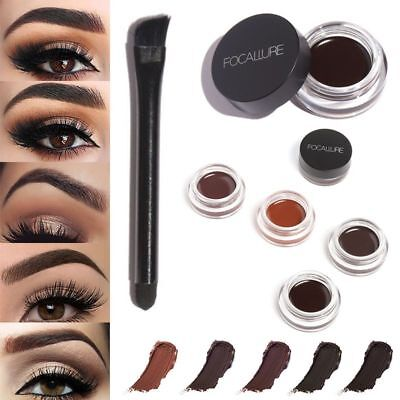New Eyebrow Enhancers Waterproof Long Lasting EyeBrow Gel Cream Makeup + Brush