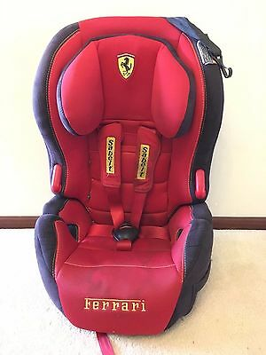 Licensed Ferrari BABY CAR SEAT BOOSTER 9kg - 36kg Made in France
