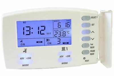 Tower Pr2 2 Two Channel 24Hr / 7 Day Programmer Switch Central Heating Timer