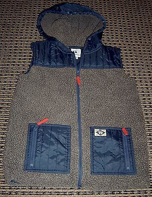 Country Road Boys Hooded Puffer Vest Sz 10 - 11