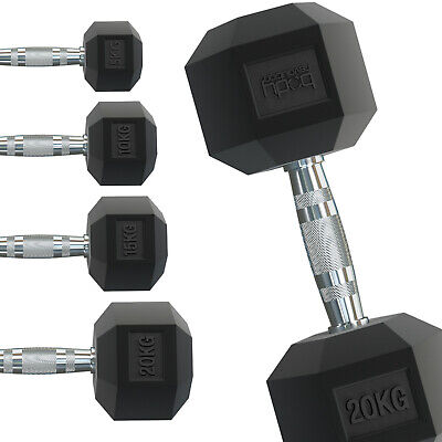 Hex Dumbbells Rubber Weights Sets Training Home Gym Hexagonal Dumbbell Workout