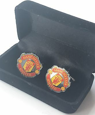 Manchester United F.C. Cufflinks in Black Gift Box *Official Product*