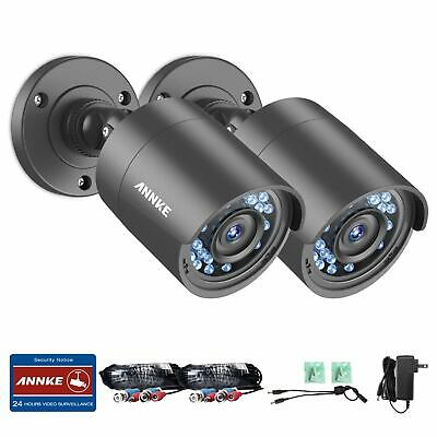 SANNCE 2pcs 720P/1500TVL Security Cameras HD-TVI IP66 24IR In/Outdoor Day/Night