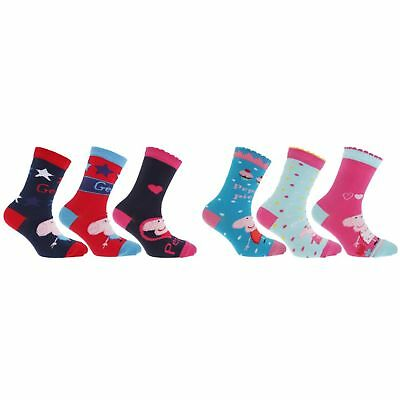 Childrens/Kids Girls/Boys Novelty Peppa Pig Ankle Socks (Pack Of 3)