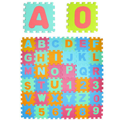 36pcs Baby Kids Alphabet & Number EVA Foam Floor Puzzle Play Learning Mats Rug