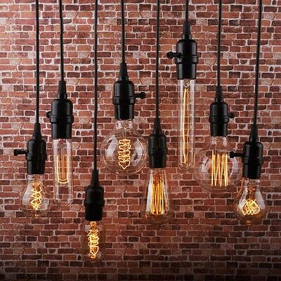 60/40W E26 E27 Screw Vintage Retro Style Lighting Filament Edison Lamp Bulb 110V