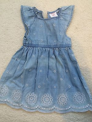 SEED HERITAGE BABY GIRLS DENIM DRESS SIze 0- 3 MONTHS RRP $59.95