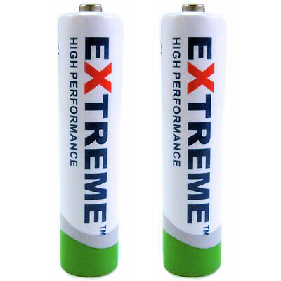 2 x Extreme AAA 1100 mAh Rechargeable Batteries