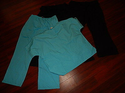 Lot of Cherokee Scrubs 1 Shirt and 3 Pants Unisex Size 2XL