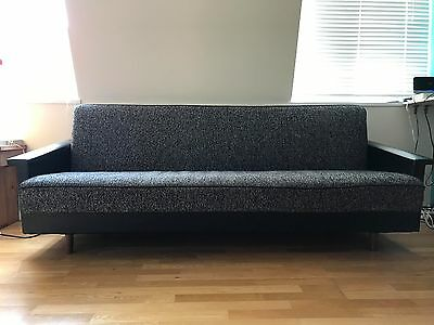 Vintage Mid Century Danish Day Bed Sofa Three Seater
