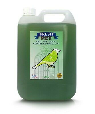 5L FRESH PET Bird Specialist Disinfectant, Cage Cleaner  - LIME