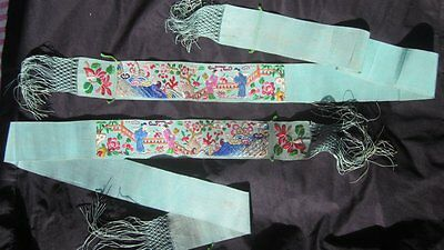 Rare antique Chinese embroidered strips