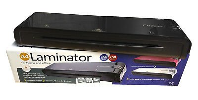 A4 Heated Electric Laminator High Quality Cathedral Machine Roller A5 - Black