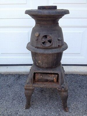 Antique Cast Iron Pot Belly Stove