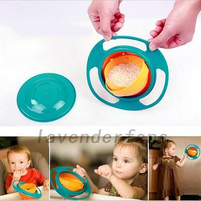 360 Degree Rotating Gyro Bowl Children's No Spill Bowl Balance Baby Bowl