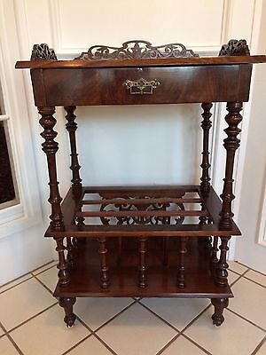 Antique Vintage Victorian Rosewood And Marquetry Inlaid Mahogany Side End Table