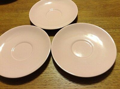 """Vintage TST LURAY PASTELS Light Pink  6"""" SAUCER Cup Plate TAYLOR SMITH & T (3)"""