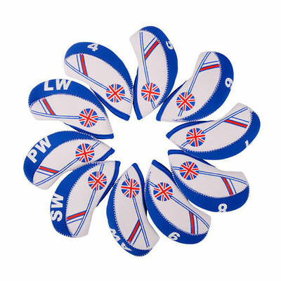 10x Union Jack Golf Iron Head Cover For Mizuno Taylormade Titleist Ping UK