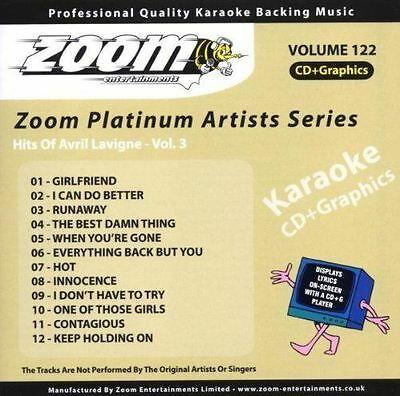 Zoom Karaoke CD+G - Platinum Artists 122: Avril Lavigne 3 CDG Brand New