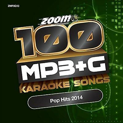 Zoom Karaoke MP3 + G 100 Songs Pop Hits 2014 New Sealed