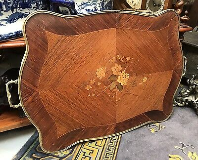 Amazing 1920's Marquetry Inlaid Kingswood Tray. Open To Offers.
