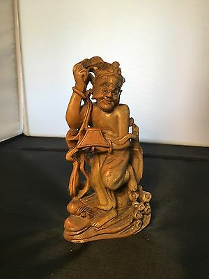 An Antique Skilfully Carved Chinese Hard stone Figure. Open To Offers.