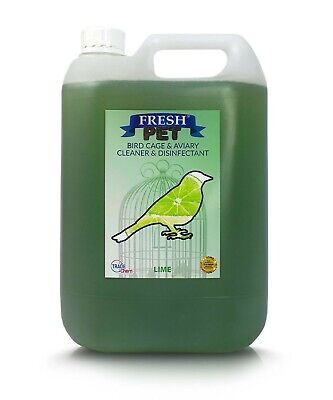 5L FRESH PET Bird Cage Disinfectant + Spray Bottle - LIME
