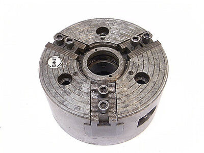 """Used Gamet 3 Jaw Power Chuck 6-1/4"""" Diameter With A5 Mount"""