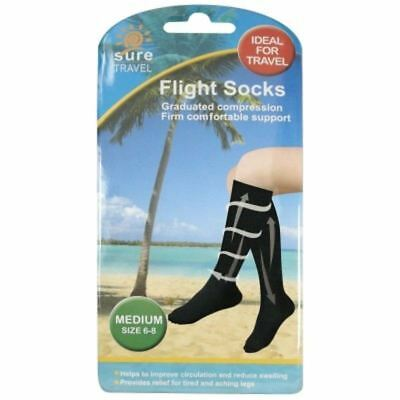 Sure Flight Socks Medium Size 6-8 1 2 3 6 12 Packs