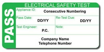 Personalised Pat Test Labels