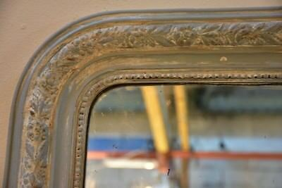 Large 19th century Louis Philippe mirror with white patina Antique French mirror