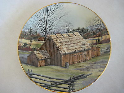 Franciscan Porcelain The Vanishing American Barn Hanis Hien Thatched Barn Plate