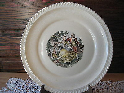 """Vintage The Harker Pottery Co. Made In USA 22 Kt. Gold Trim Plate, 10"""" D"""