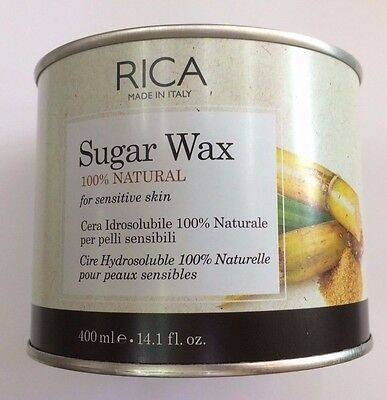 RICA SUGAR WAX CERA IDROSOLUBILE 100% NATURALE 400ml