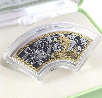 Cook Islands 2013 $1 Snake Fan Shaped 1/2 Oz Silver Coin