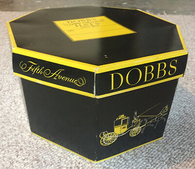 Vintage Dobbs Fifth Avenue New York Hat Box Only - octagon
