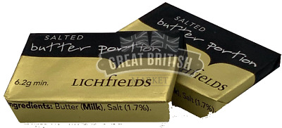 Butter Portions -Lichfields -Individually Foil Wrapped- 25 / 50 /100 Pack Size 7