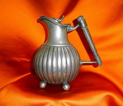 Antique Victorian aesthetic movement Pewter lidded hot water jug