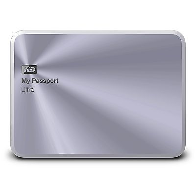 WD 1TB Silver My Passport Ultra Metal Edition Portable  External Hard Drive  ...