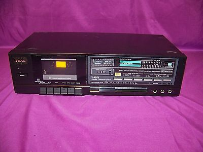TEAC V-450X Stereo Cassette Deck With No Instructions Manual Tested Works In GUC