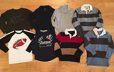 Lot Of 8 Boy's Size 7/8 L/S Shirts, Back To School