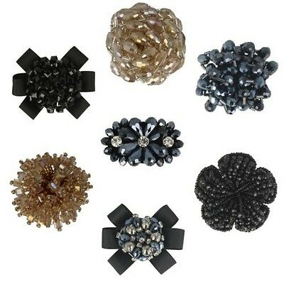 Van Dal Ladies Changeable Clip on Shoe Accessories Flowers Beads - Many Styles