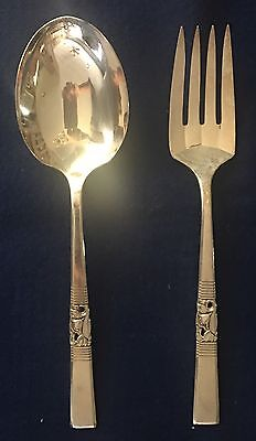 Oneida Community MORNING STAR Silverplate Casserole Serving Spoon and Fork