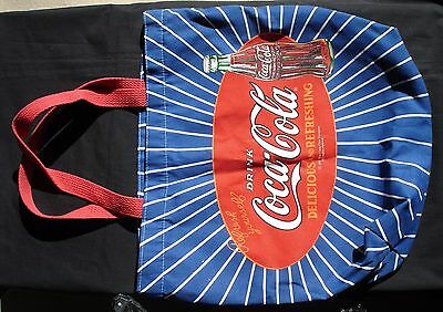 DRINK Coca-Cola DELICIOUS REFRESHING Tote Picnic Bag 1991 Refresh Yourself Coke