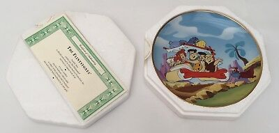 The Flintstones Limited Edition Plate 1992 Franklin Mint COA