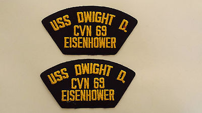 Group Of 2 US Navy USS DWIGHT D. EISENHOWER CVN-69 Patches