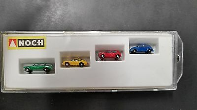 Vintage Preiser Noch Z Scale 1:220 Handpainted 4720 Model Car Assortment Combo 2