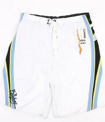 Billabong Youth Boys Lined Swim Trunks Boardshorts White Size XL New