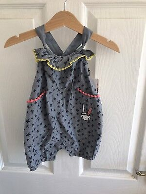 Mamas And Papas Fifi Lapin Baby Girl Dungarees 0-3 Months New